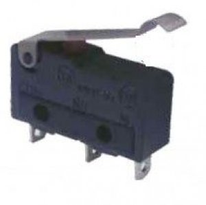 Chave Micro Switch KW11-3Z-3 3T 3A 250V com Haste Curva  R0062 / 10.18.014