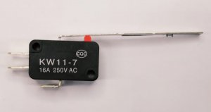 Chave Micro Switch com Alavanca 60x4mm 10.18.004 KW11-7-3-60mm 16A