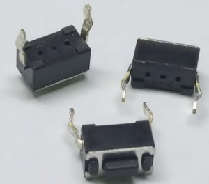 CHAVE TOQUE SMD 2T 180GR 5MM VERT 6X6X5MM