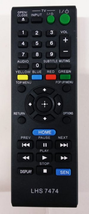 Controle Remoto Sony TV /  BLUE-RAY Generico  RBR-7474 / RMT-B120A